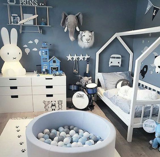 kleuren voor jongens babykamers