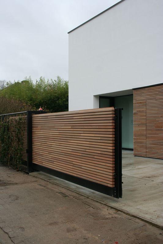 tuinpoort met elektrisch hek