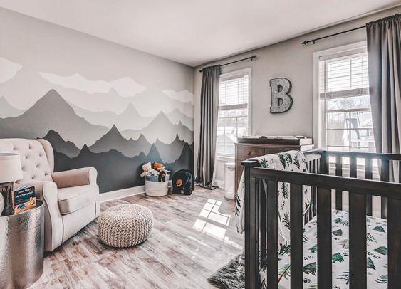 muurverf ideeën voor babykamers