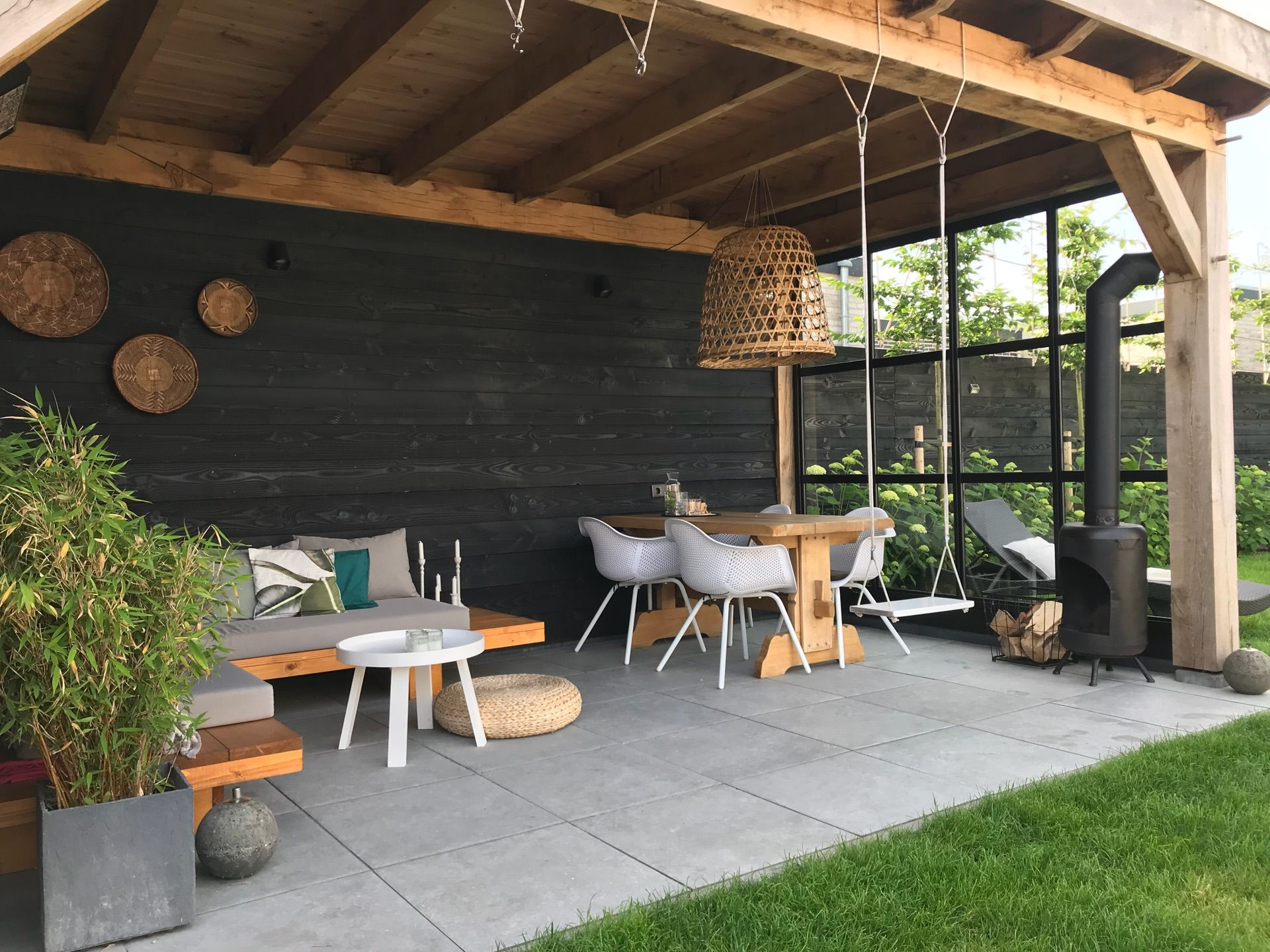 idee voor moderne tuinoverkapping