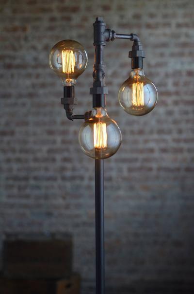 industriële vloerlamp ideeën