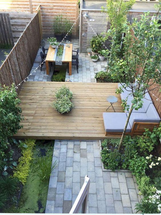 idee om een kleine tuin toch smaakvol in te richten