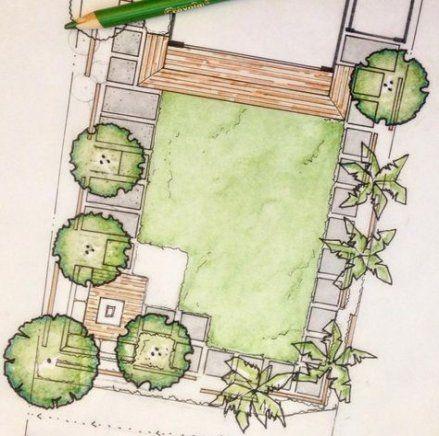 schets voor een tuinontwerp