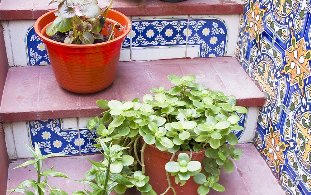 mediterrane tuin idee Mozaic tegels