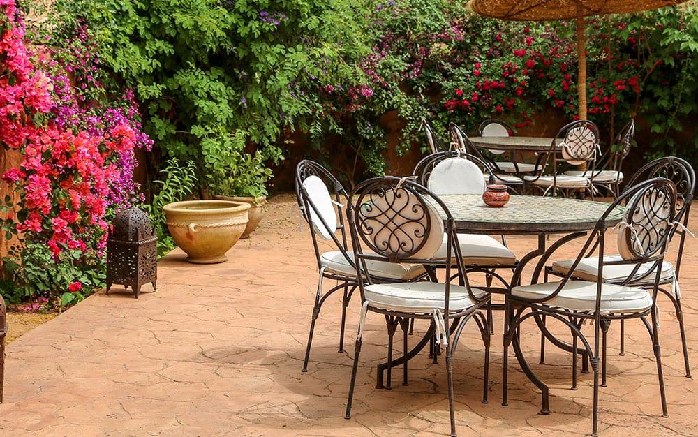 mediterrane tuinset om te dineren