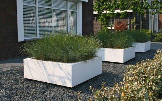 strakke plantenbak idee met hoog gras