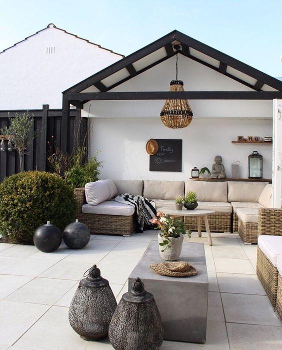 Meer moderne tuindecoraties