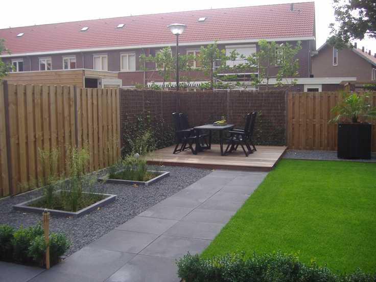 Moderne tuin met grind