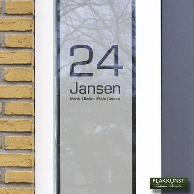 voordeur sticker met huisnummer