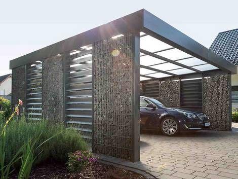 voortuin idee voor carport