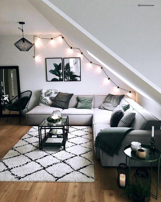 lichtsnoer in woonkamer