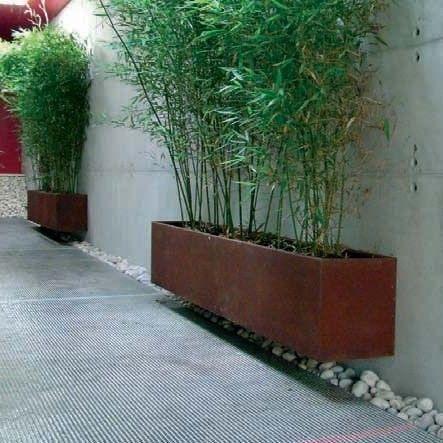 zwevende corten plantenbakken