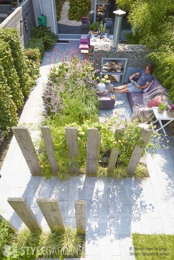 kleine mediterrane tuin inrichten