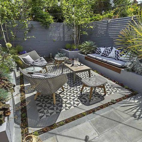 Kleine tuin inrichten met tuintegels