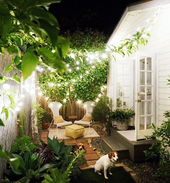 verlichting voor een kleine tuin