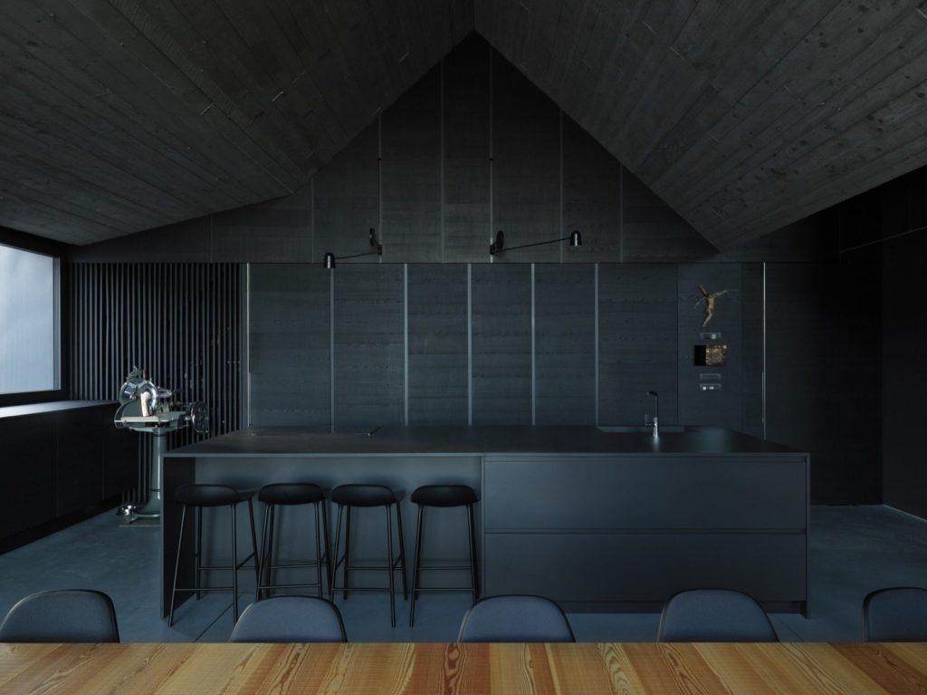 strakke greeploze keukenkastjes en bar aan kookeiland