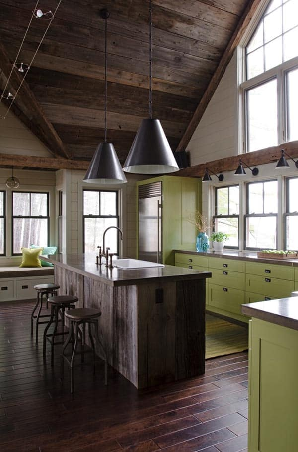 betonnen aanrechtblad en keukenblad ideeën & voorbeelden in industriele keuken