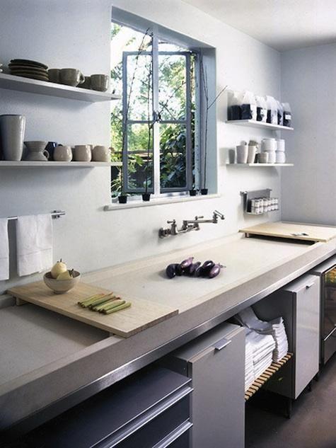 betonnen aanrechtblad en keukenblad ideeën & voorbeelden in moderne keuken