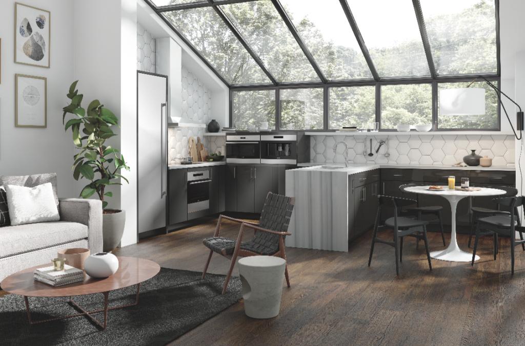 moderne keuken met een schiereiland