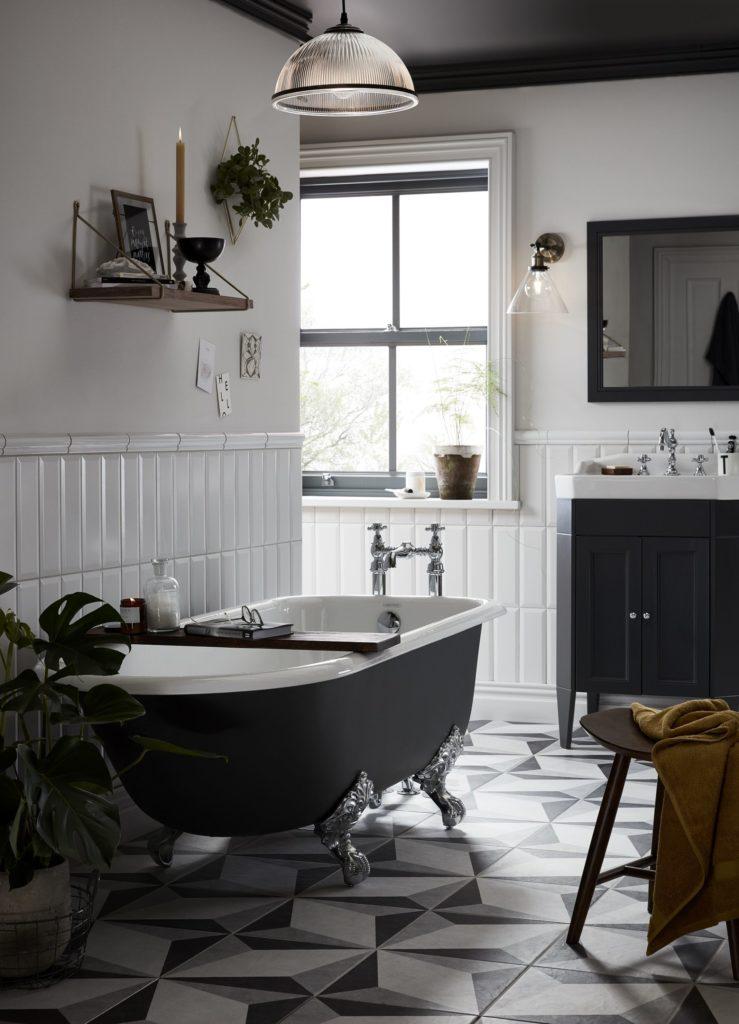 landelijke Zwart badkamer ideeën en voorbeelden