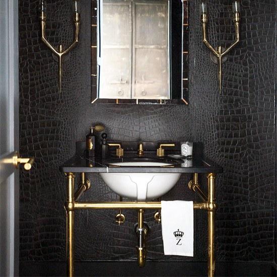 Zwart badkamer ideeën en voorbeelden