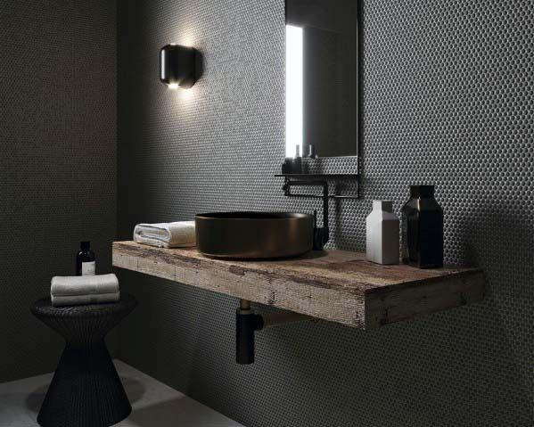 moderne Zwart badkamer ideeën en voorbeelden