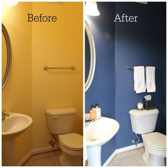 before en after foto van toilet verbouwen