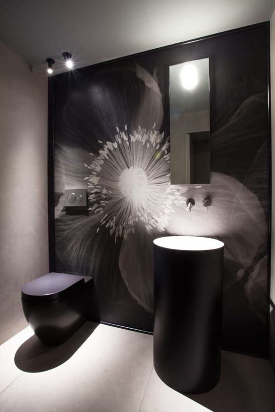 zwarte toilet ideeën