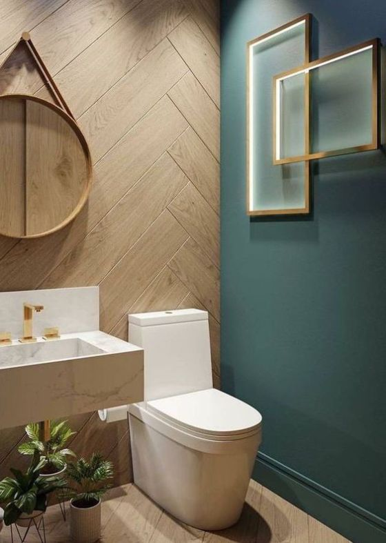 groene toilet ideeen