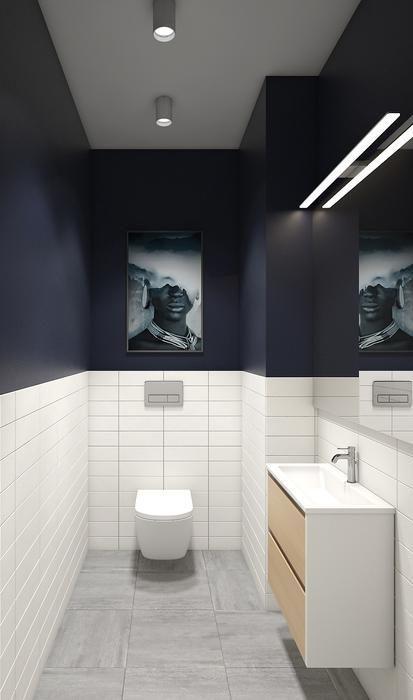 blauwe toilet ideeen