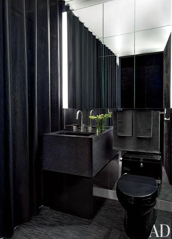 design wc met spiegelwand