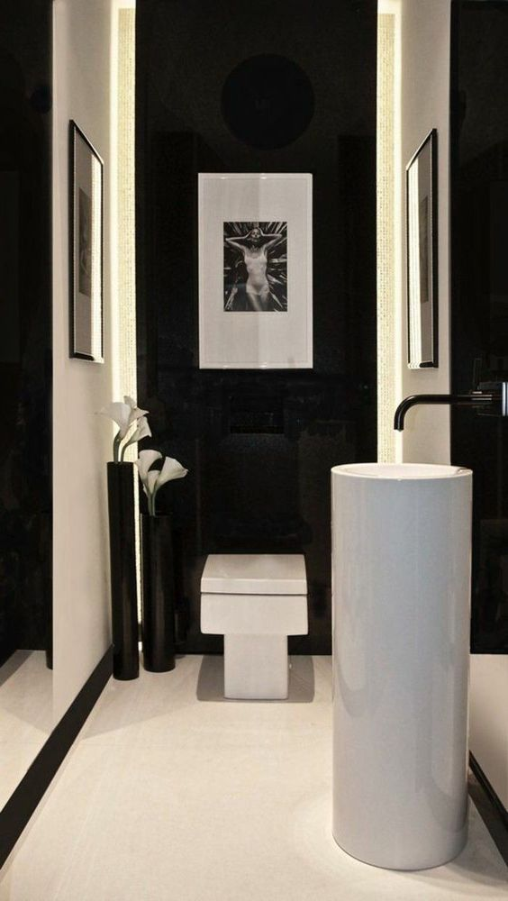 fotolijst in de toilet met vierkant design wc