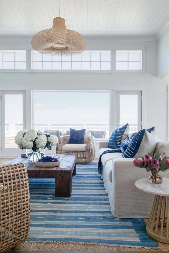 Beach Look Interieur Met 50 Gave Beach Style Woonkamer Ideeen