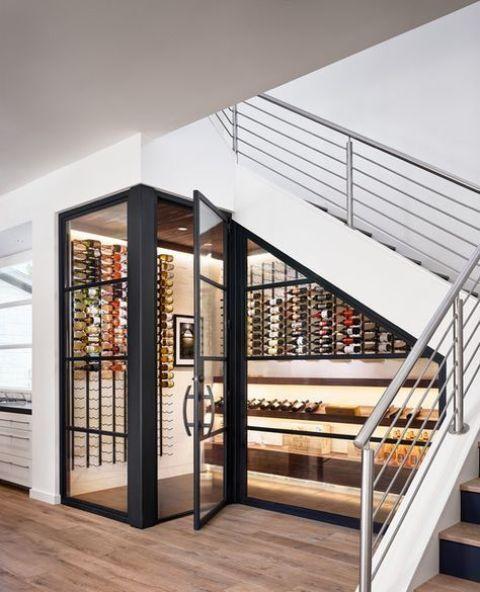 wijnrek onder trap