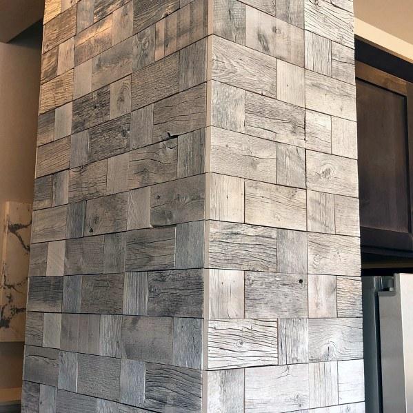 houten muur ideeën