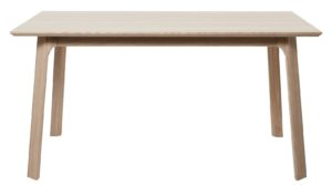 24Designs Haslund Verlengbare Eettafel 150-250x95x75 Cm - Eiken Whitewash + 2 Aanlegbladen
