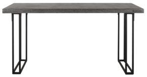 24Designs Mont Blanc Eettafel - 160x90x78 - Donkergrijs Bazalt - Metalen Poten
