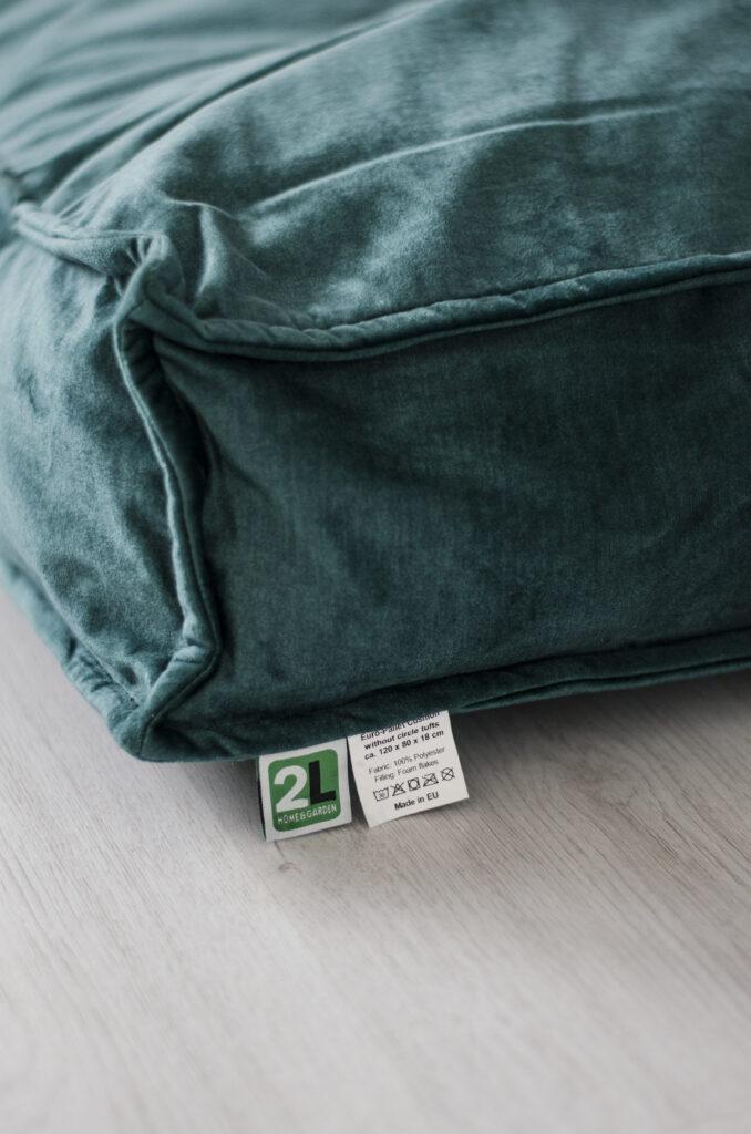 2L Home & Garden Hondenkussen Velvet Donkergroen - 120 x 80cm (8)
